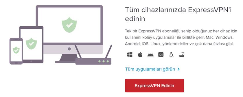 ExpressVPN uygulamaları