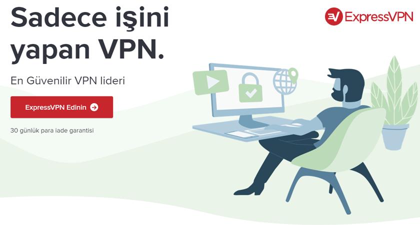 ExpressVPN giriş ekranı